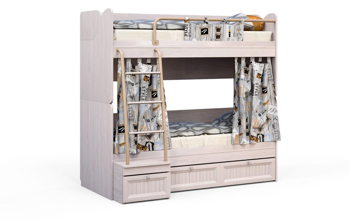 Divstāvu gulta bērniem mēbeļu kolekcija BAUNTY 2-1 B15