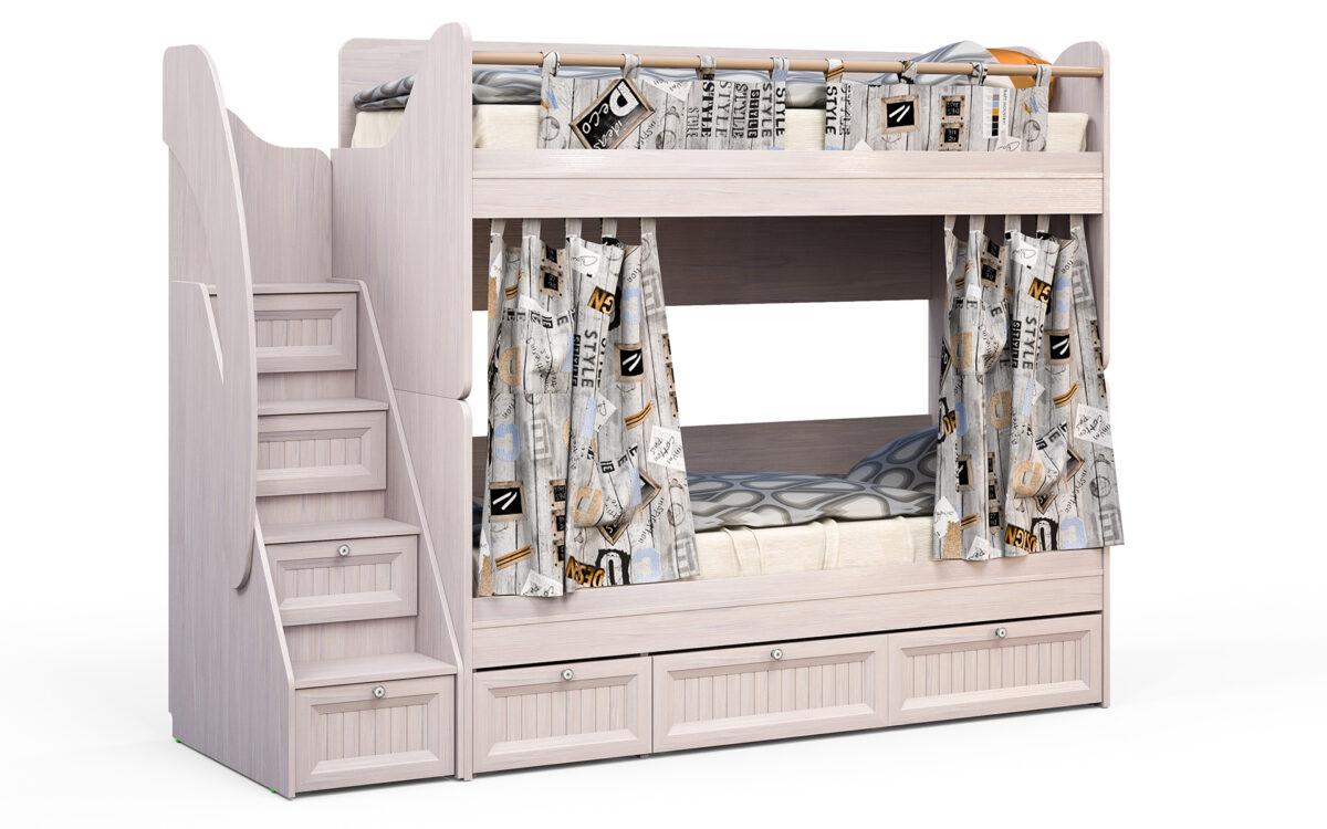 Divstāvu gulta bērniem mēbeļu kolekcija BAUNTY 2-2 B16