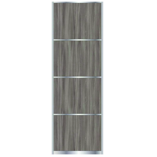 Sliding Door With Dividing Stripes ASH SHIMO, profile: matte champagne 7564