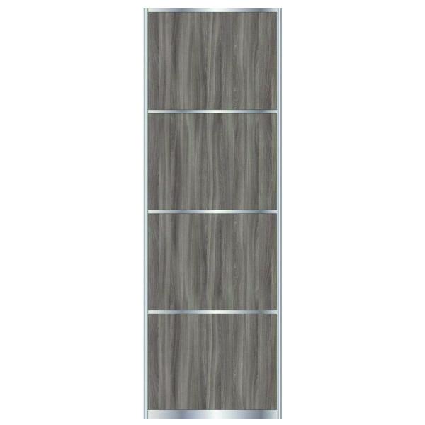 Дверь для встроенного шкафа купе с разделительной линией OSIS ŠIMO, профиль матовая бронза 7569