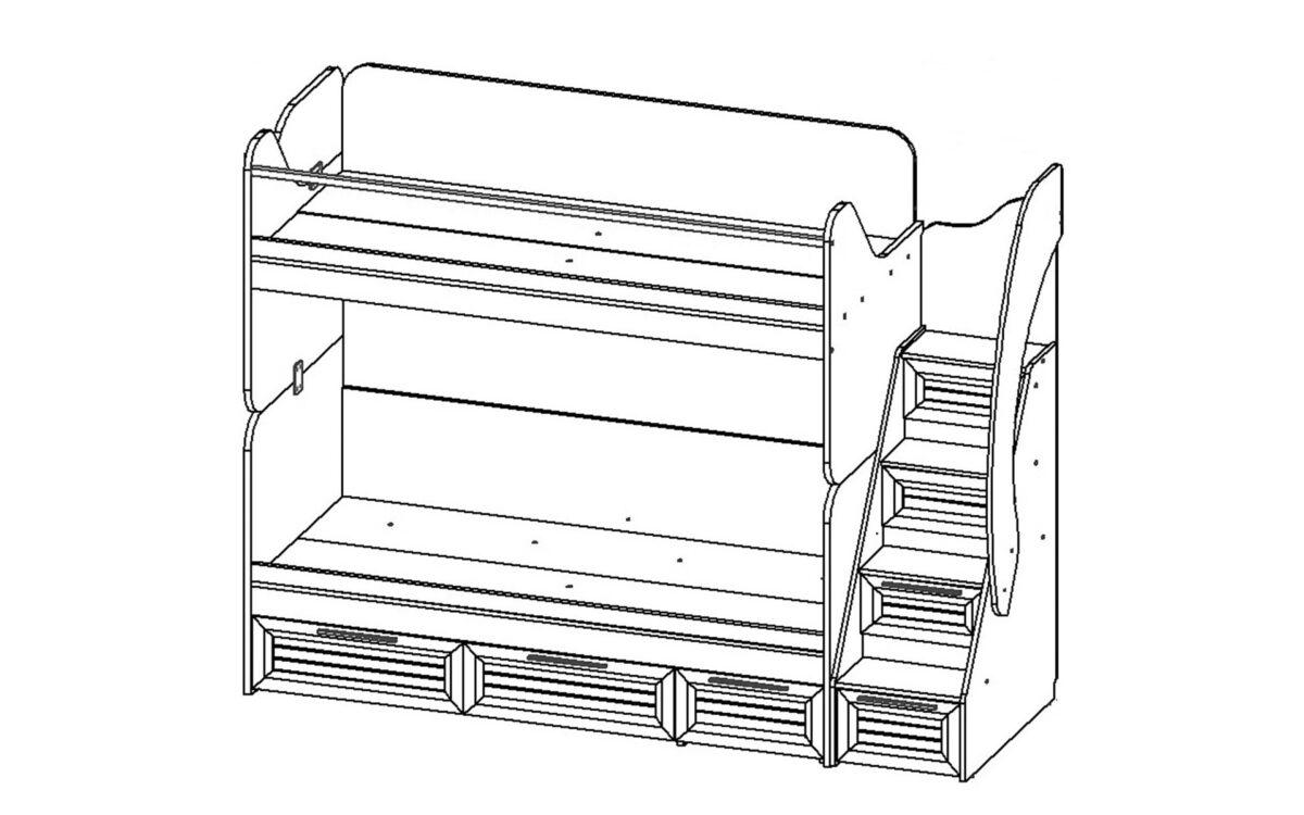 Кровать SHERWOOD 2-2 SH8