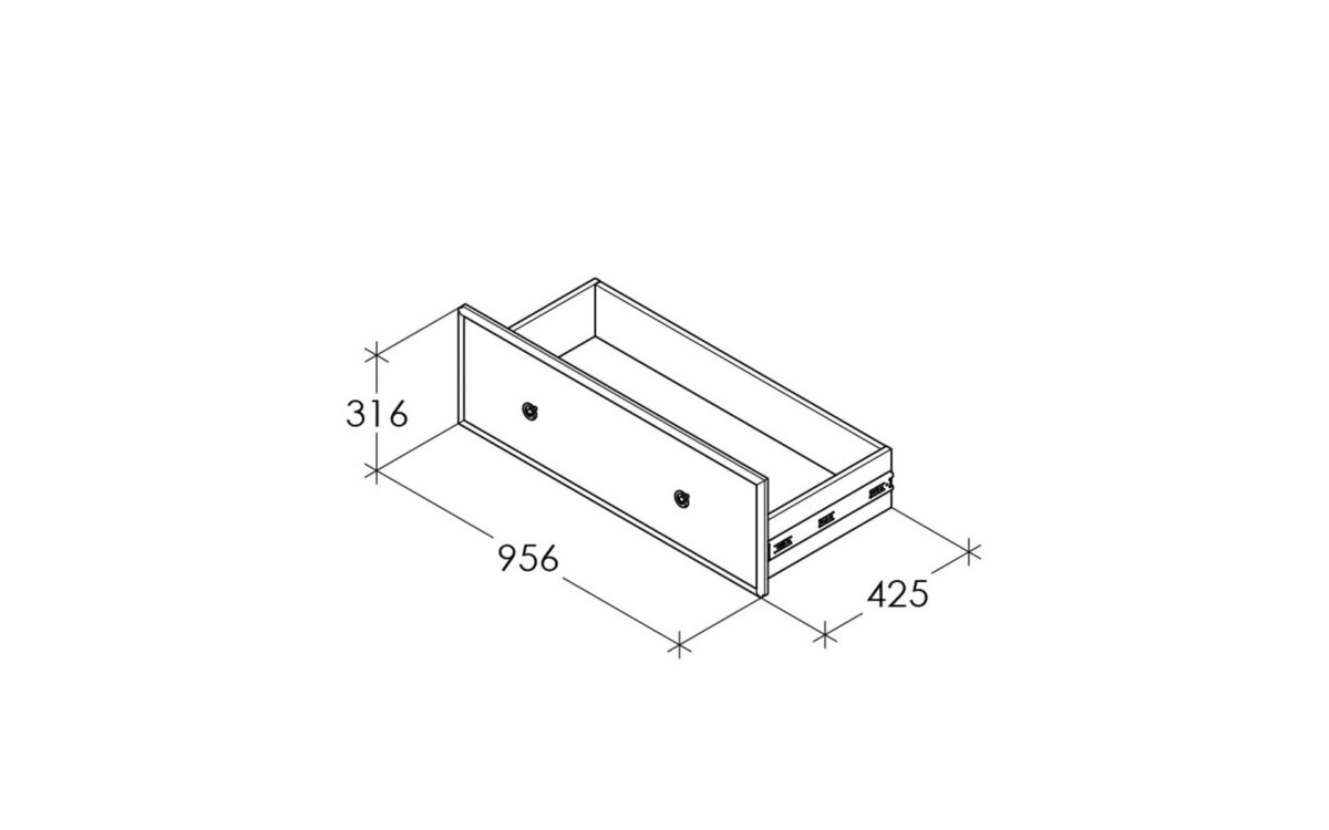 Ящик к кровати CAMBRIDGE-3 C29