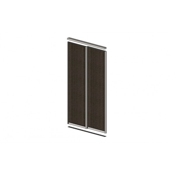 Sliding Door With Dividing Stripes VENGE. Profile: Matte Silver 7198