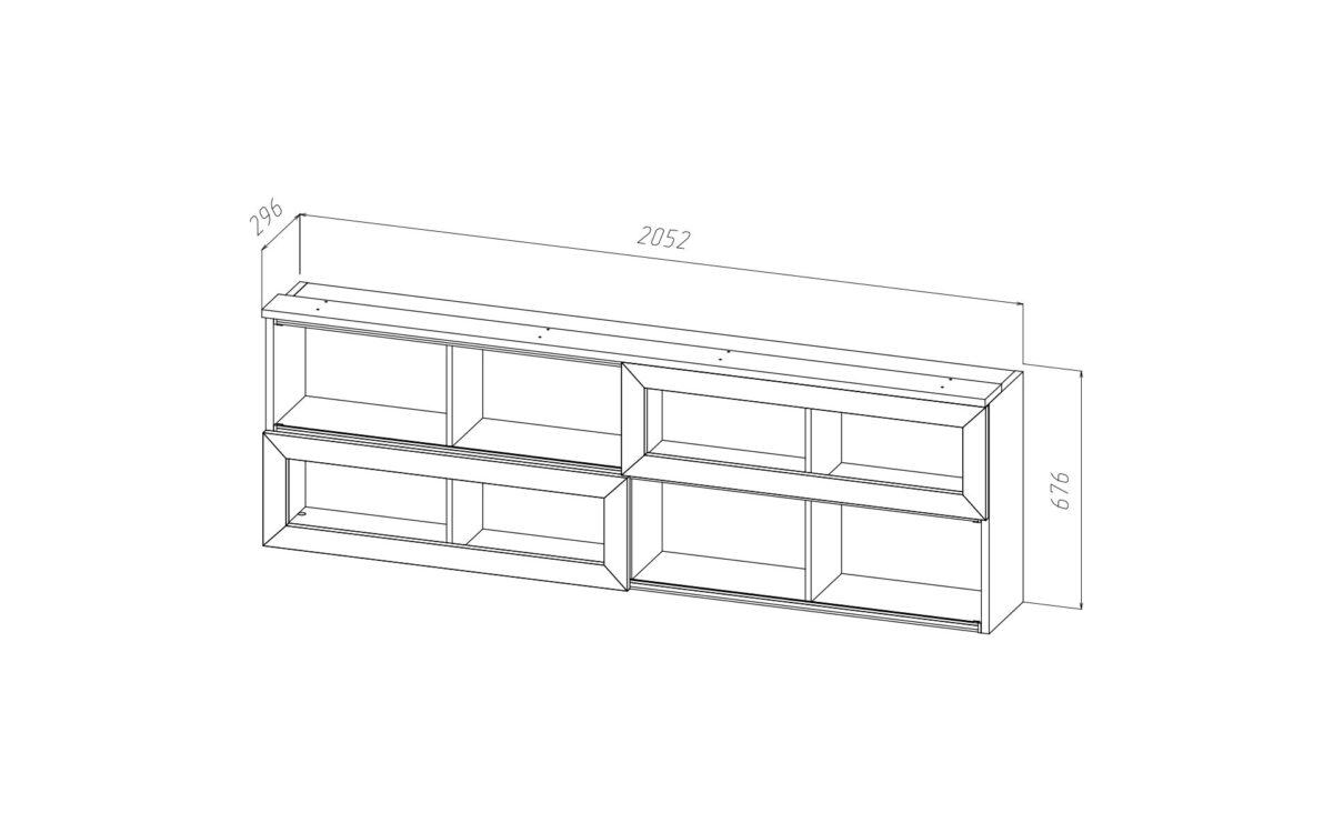 Полка BOUNTY-02 (стекло) B25