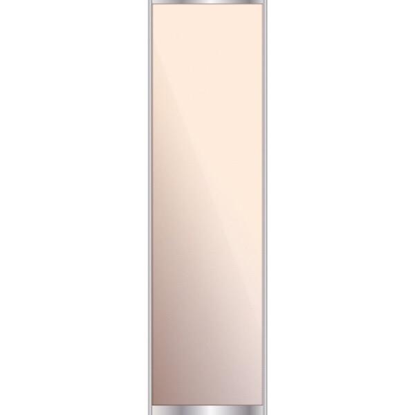 Дверь для встроенного шкафа купе с зеркалом, профиль матовая бронза 5098