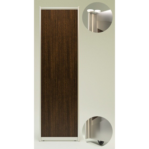 Sliding door for wardrobe with fittings VENGE. Profile: Matte Bronza 8169