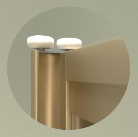 Дверь для встроенного шкафа купе White Tree, профиль матовая бронза 8469