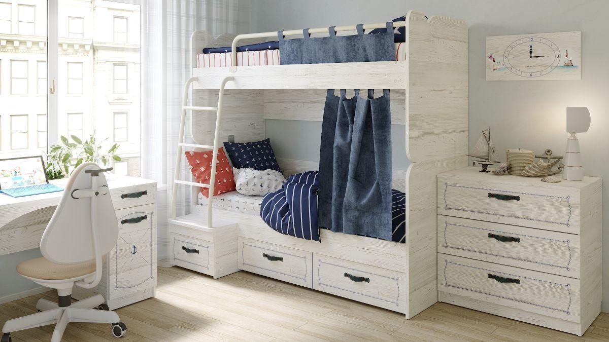 Комплект больших занавесок к кровати REGATA R35