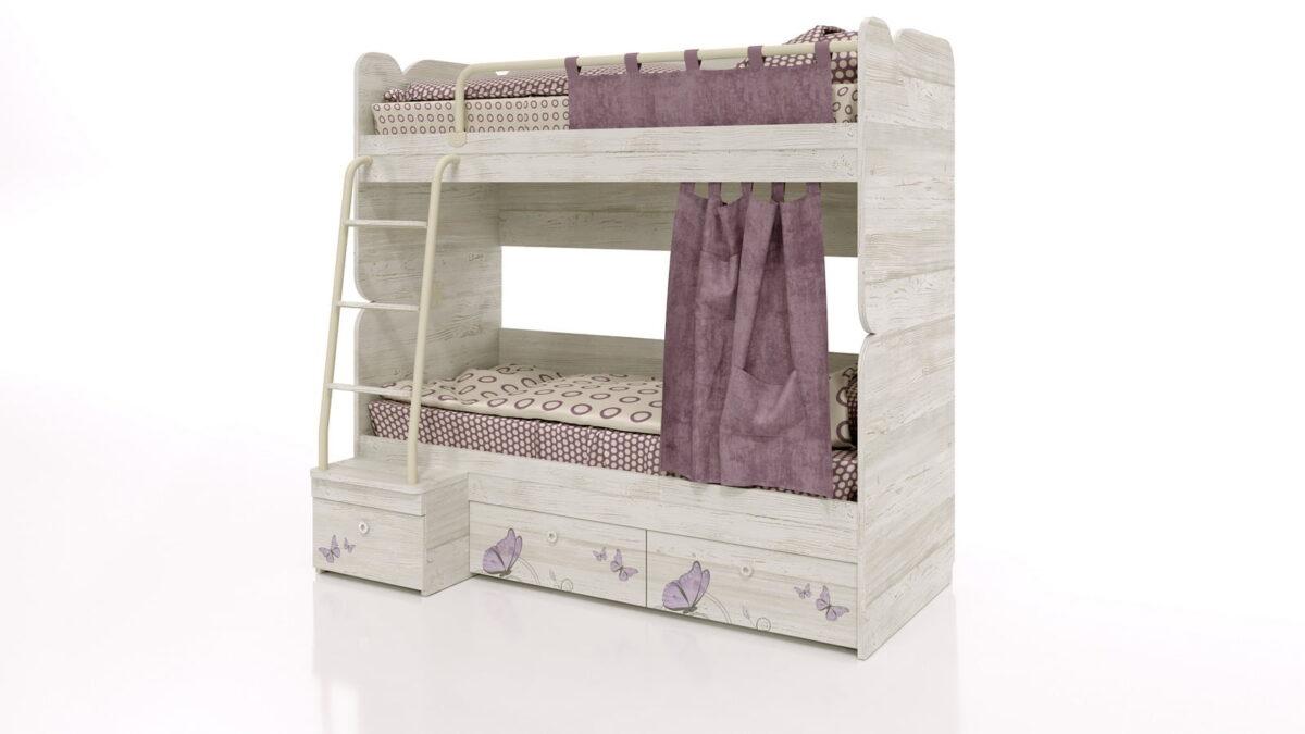 Divstāvu gulta bērniem LADY-6-2 (WINTERBERG)